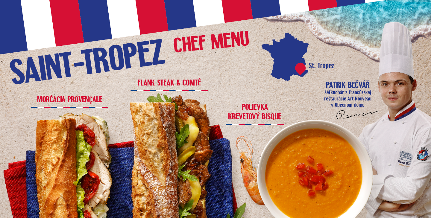 Saint-Tropez Chef menu