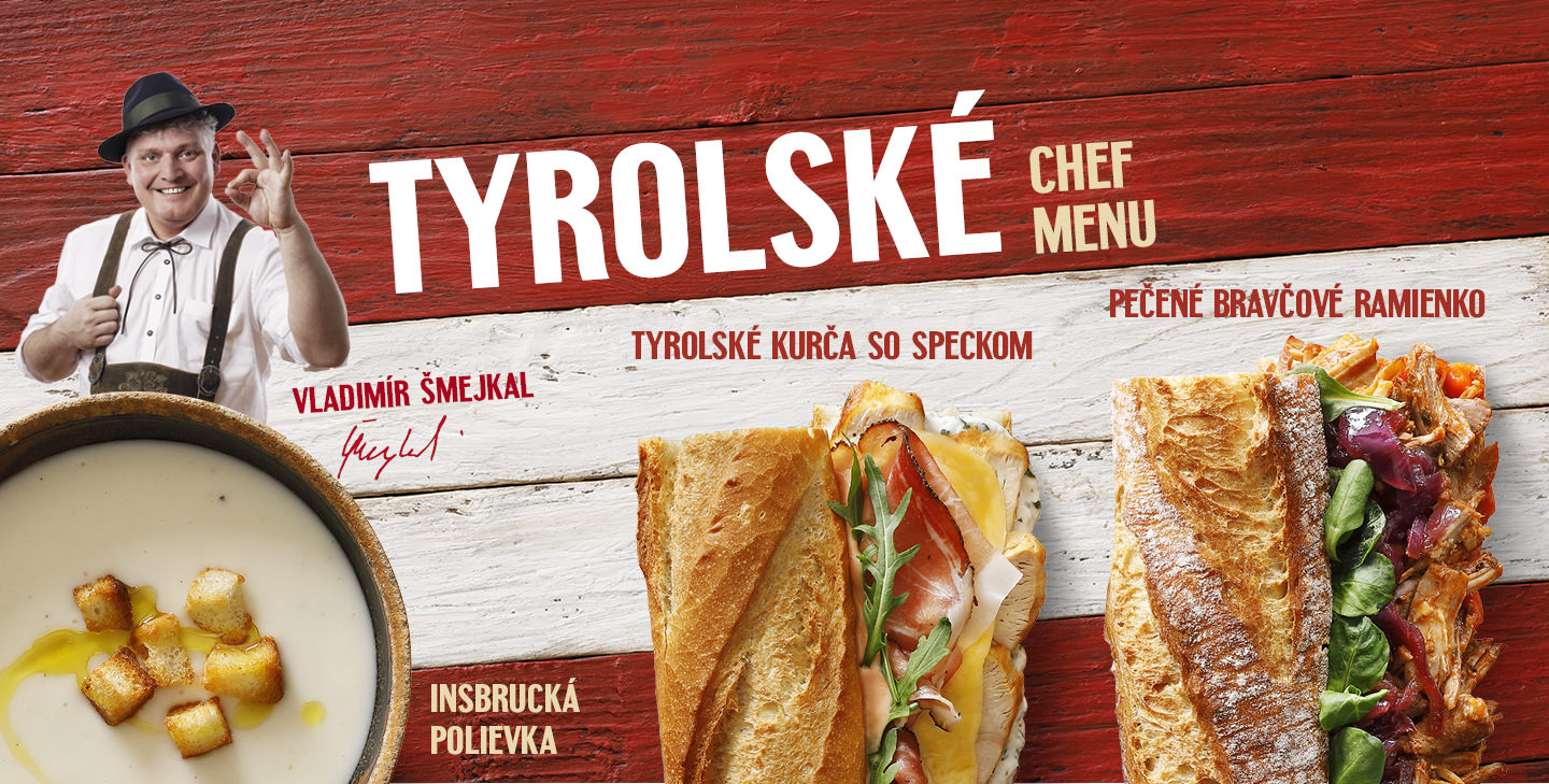 Tyroslké Chef menu