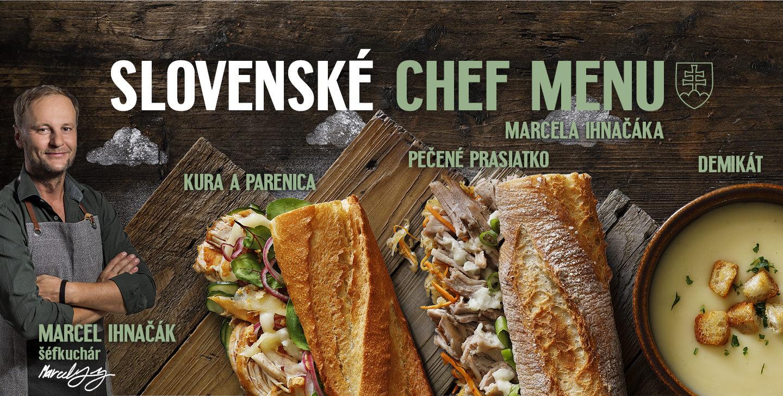 Slovenské Chef menu
