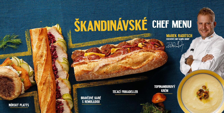Škandinávské chef menu