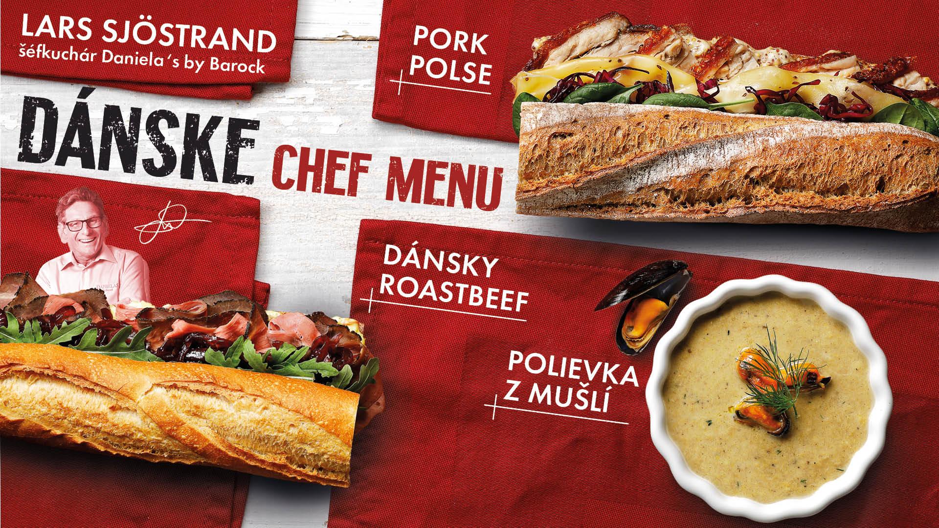 Danske Chef menu