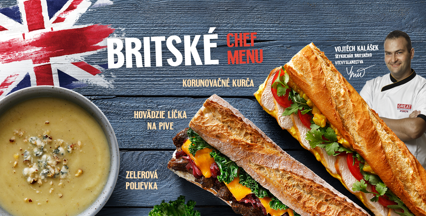 Britské Chef menu