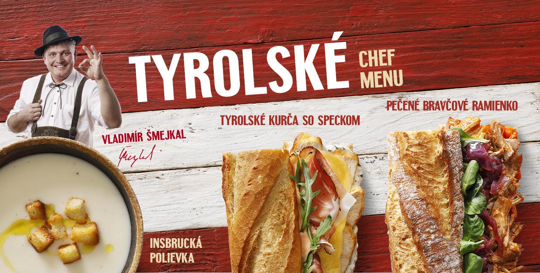 Tyroslké Chef menu